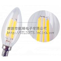 供应led灯丝灯,2W尖泡灯丝灯,高亮高显