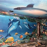 供应ktv装修壁纸 餐厅壁画 海底世界壁画