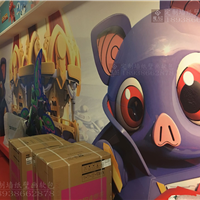 供应主题酒店壁画 宾馆3D墙纸 儿童无缝壁画