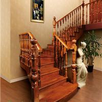 普洛瑞斯L形实木楼梯|防腐防蚁木楼梯
