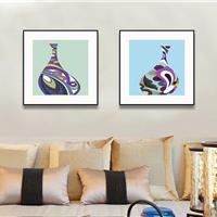 供应木亚muya抽象花瓶客厅装饰画
