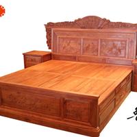 东阳红木家具定做、东阳缅甸花梨、红木、床