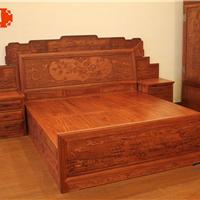 床、红木家具、全实木红木家具、缅甸花梨床