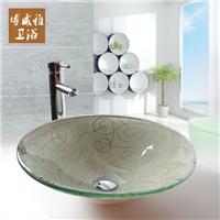 钢化玻璃洗手盆 简约百搭卫生间艺术台上盆