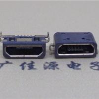 供应四脚插板micro usb防水座子手机接口