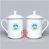 大量供应优质陶瓷水杯、定做批发会议专用杯