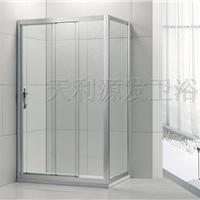 供应批发广东钢化玻璃隔断三联动移门