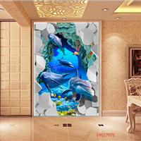 宇成订制3D背景墙3D瓷砖背景墙艺术壁画壁纸