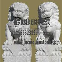 石雕石狮子 狮子麒麟雕塑雕刻 石材雕塑厂家