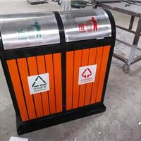 四川小区果皮箱 木条分类垃圾桶 环保垃圾箱