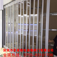 �西水晶折叠门厂家、铝合金水晶折叠门