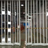 供应韶关水晶折叠门、铝合金水晶折叠门