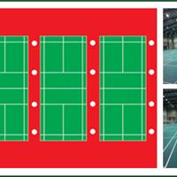 学校小型体育场照明,羽毛球场的布灯方式