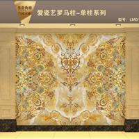爱瓷艺供应彩雕背景墙岗石罗马柱