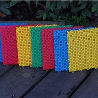 供应米字格悬浮式拼装安全环保地板