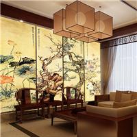 供应酒店大堂软包皮革 定制背景墙壁画硬包