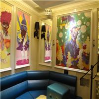 供应酒吧工程涂鸦墙纸 KTV包房背景墙壁纸