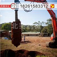小挖机代螺旋钻机 液压旋挖钻 光伏打桩机