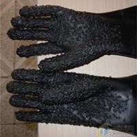供应喷砂机防护手套/颗粒橡胶喷砂手套批发