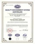 ISO 9001认证证书(英文)