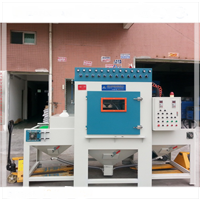 供应锌合金、铝合金自动输送式喷砂机