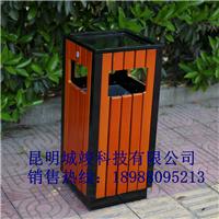 供应昆明小区钢木垃圾桶厂家直销