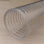 PVC透明钢丝吸烟灰尘颗粒软管