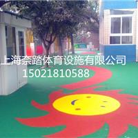 供应普陀幼儿园塑胶地坪生产铺设