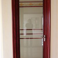 供应卫生间门 铝合金平开门 玻璃厕所门