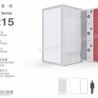 瓷砖展架单面侧拉柜T215