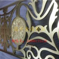大连铜色铝板浮雕屏风a1457款式