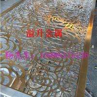 供应铝板拉丝电镀雕刻屏风 会所屏风隔断