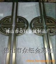 304不锈钢雕刻花纹仿古铜大门拉手