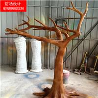 玻璃钢植物雕塑-园林景观雕塑-仿真树木定制