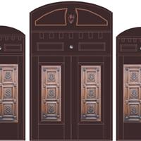 供应防盗铜门 子母门 对开门 四门对开