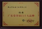 广东荣誉铝门十大品牌