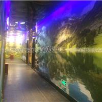 供应酒店走道墙布定做 餐厅走廊装修3D壁画