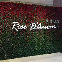 仿真玫瑰花墙婚庆礼仪摄影创意主题背景墙