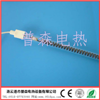 江苏石英玻璃灯管 螺纹型黑色碳纤维加热管