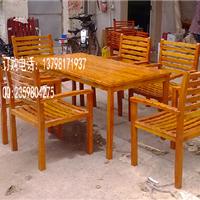庭院实木餐桌椅、花园木制桌椅铁桌椅