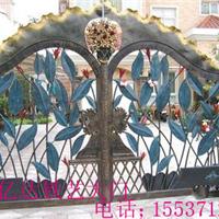 郑州铁艺厂家直销;锻打铁艺大门、铁艺小门 、厂区铁艺门