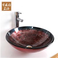 博威雅钢化玻璃台上盆卫生间艺术盆洗手盆