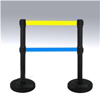 供应双层隔离防护栏杆含2米长伸缩带