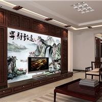 苏州新中式背景墙uv打印机中国风壁画印花机