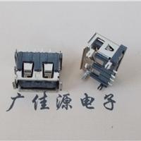 供应USB2.0短体A母 4pinSMT插板脚直插