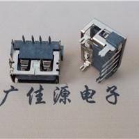 供应USB 2.0短体母座 AF90度4PIN 直插