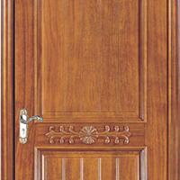 供应大浩湖原木门,简约欧式扣线雕花门。