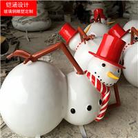圣诞雪人雕塑-圣诞老人摆件-节日装饰雕塑