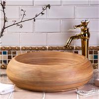 供应洗脸盆洗手盆 中式复古圆形台上盆