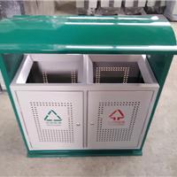 供应住宅小区垃圾桶 钢板果皮箱 一个也批发